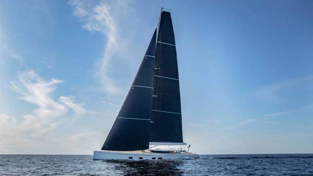 43-meter Baltic 142 Foiling Superyacht Canova begins sea trials