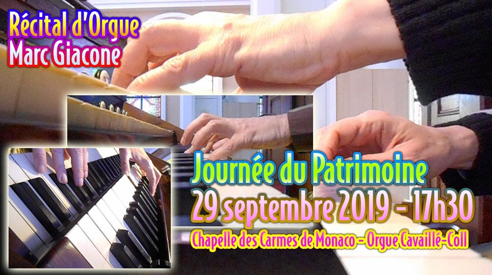 Concert by Marc Giacone, organist, as part of European Heritage Day
