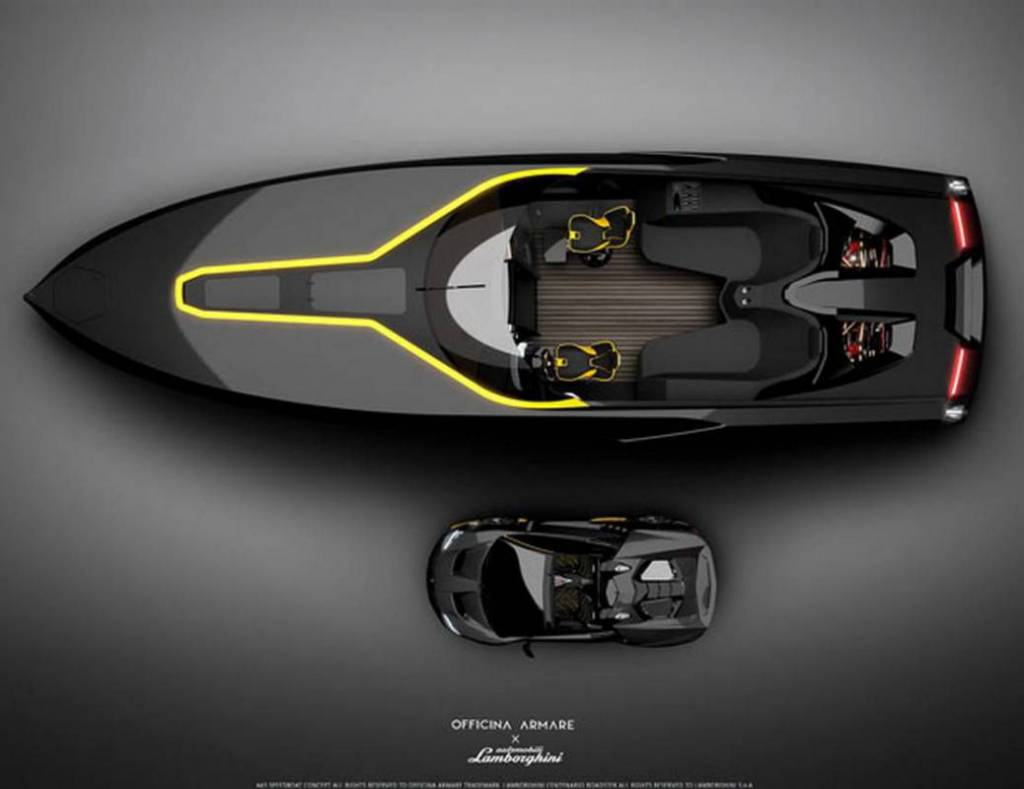 Lamborghini-inspired boat concept from Italian Design Studio Officina Armare