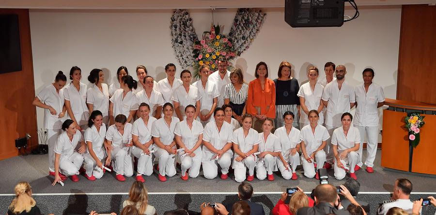 Princess Caroline attended IFSI's 2019 graduation ceremony