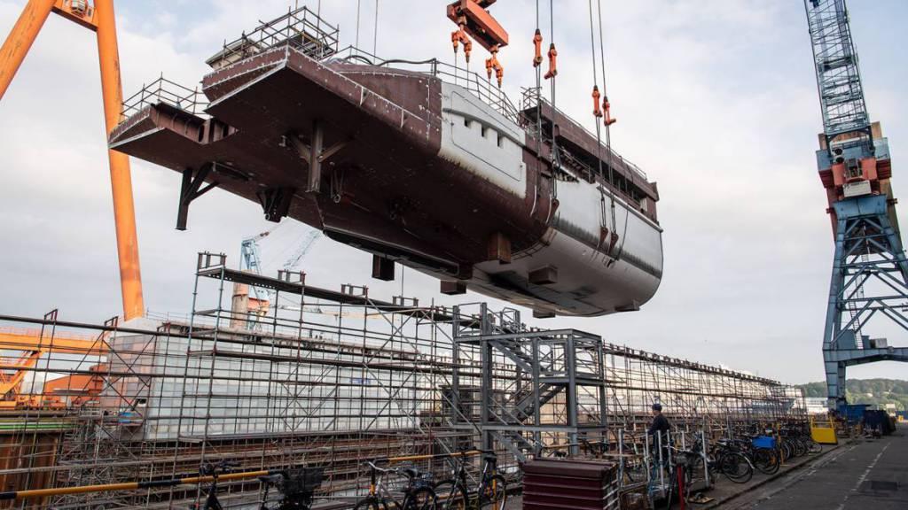 77m superyacht Project Black Shark takes shape at Nobiskrug