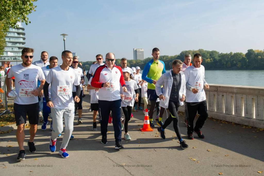 Prince Albert participates in No Finish Line Bratislava