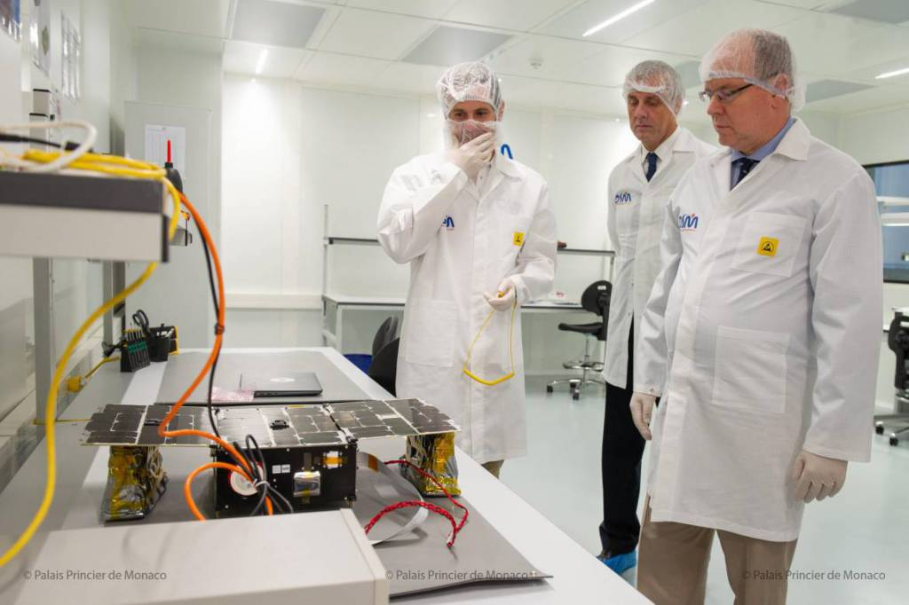 Prince Albert visited Orbital Solutions Monaco (OSM)