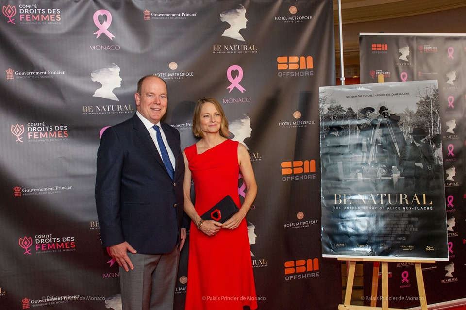 Prince Albert meets Jodie Foster for Pink Ribbon