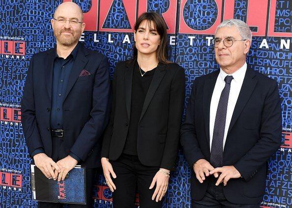 Charlotte Casiraghi attended the tv show 'Le Parole della Settimana'