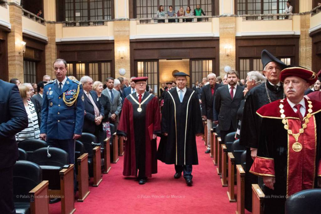 Prince Albert receives Honorary Doctorate in Bratislava