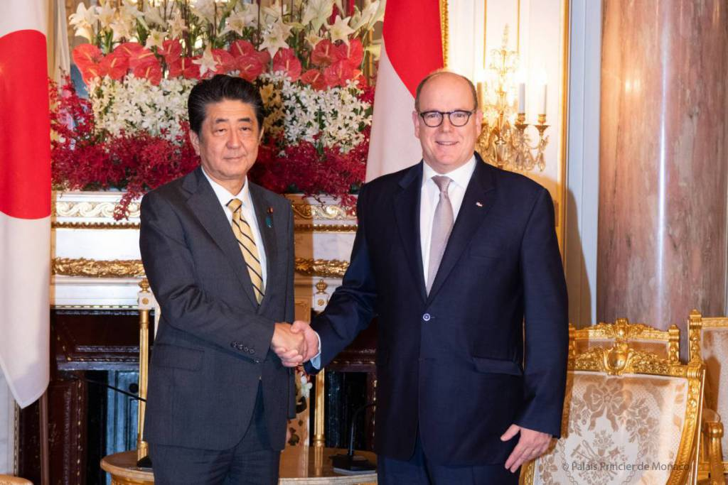 Prince Albert meets Prime Minister Shinzo Abe in Tokyo
