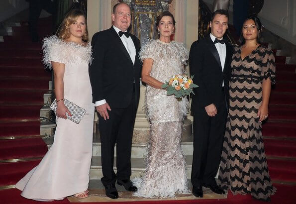 Prince Albert and Princess Caroline attended the 'Secret Games' party