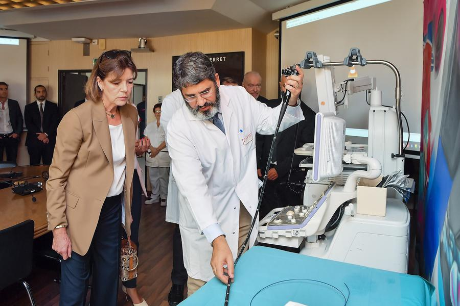Princess Caroline inaugurates Cancer Equipment at CHPG