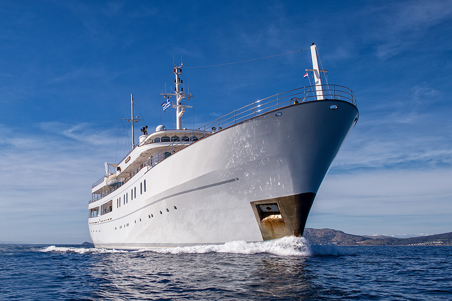 70m converted school vessel Sherakhan arrives back in Holland