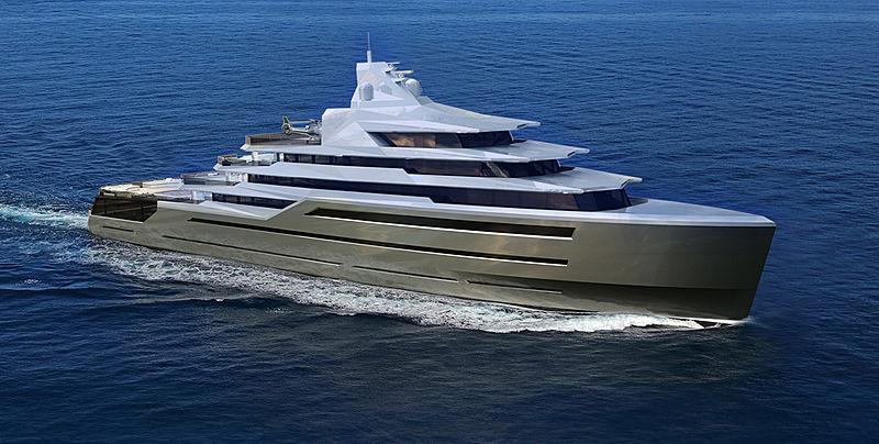 105m superyacht concept Equilibrium presented by Alejandro Crespo
