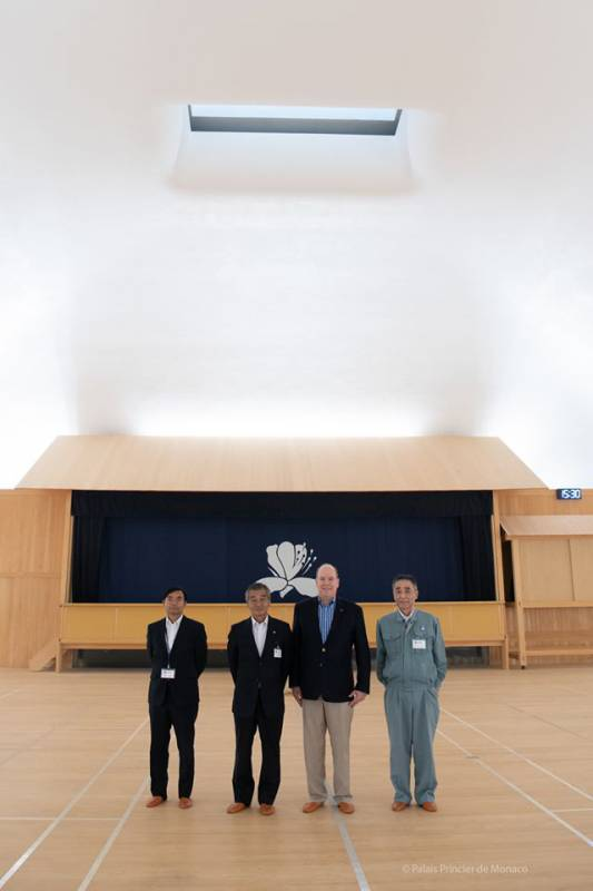 Prince Albert visits Setouchi Islands Japan