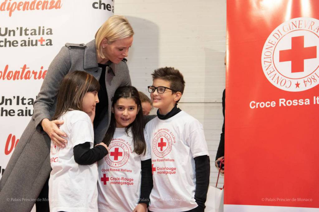 Princess Charlene inaugurates Italian School