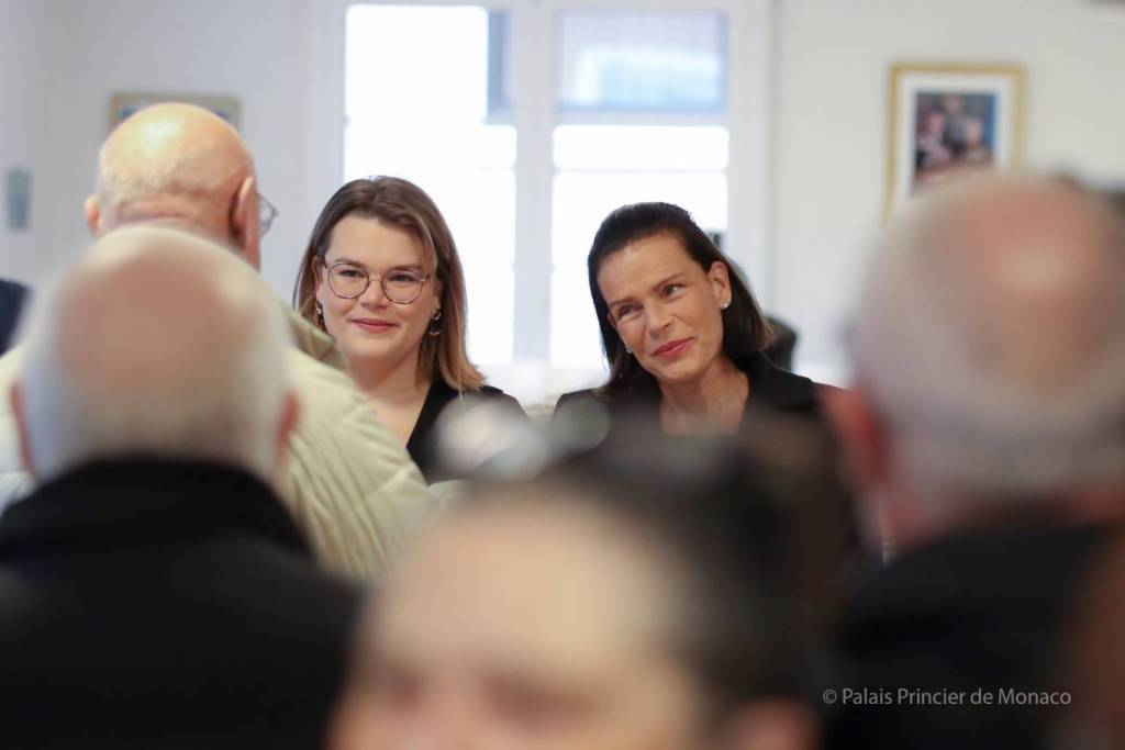 Princess Stephanie and Camille Gottlieb give out gifts at Rainier III Home