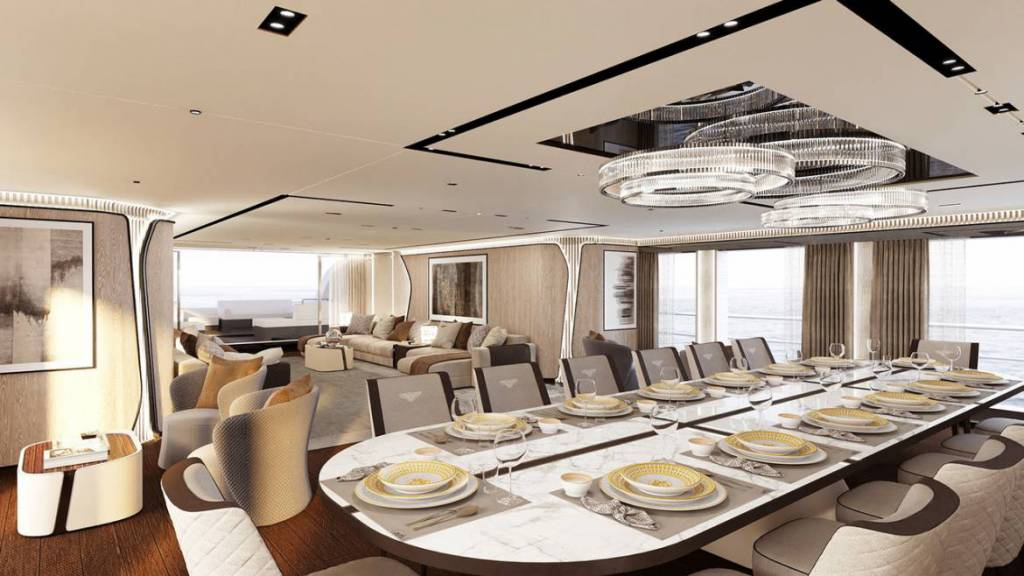 Interiors of in-build CRN 138 superyacht revealed