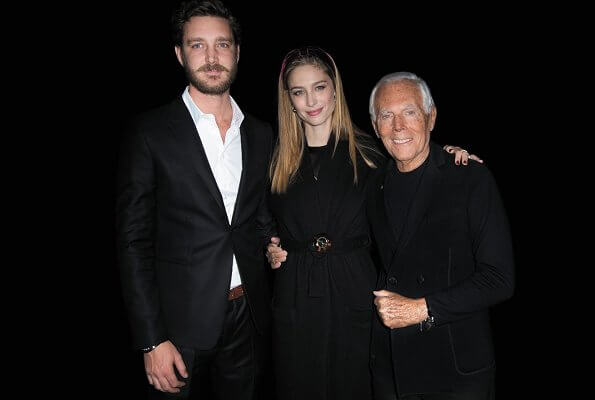 Pierre Casiraghi and Beatrice attend Armani fashion Show
