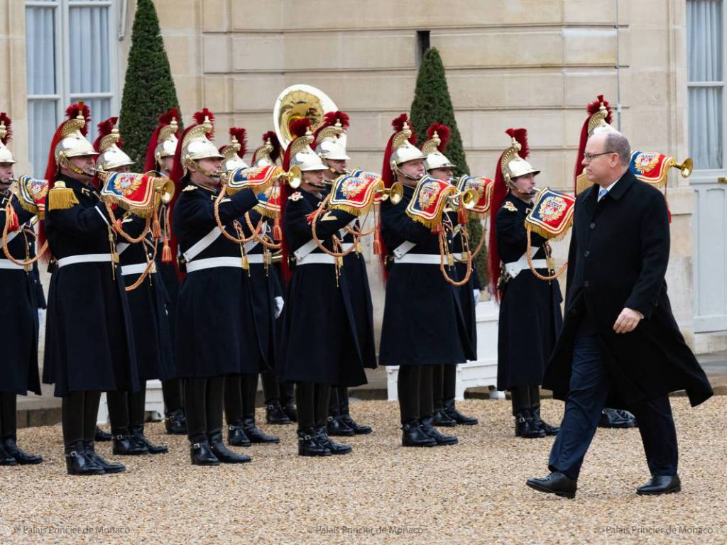 Prince Albert visits President Emmanuel Macron