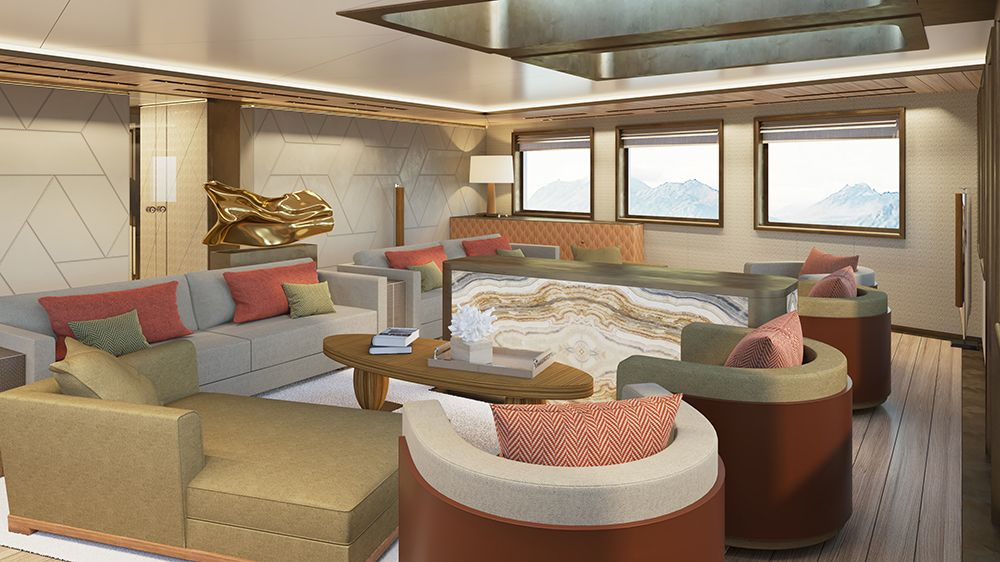 Interiors revealed on Russian billionaire's 77m explorer superyacht La Datcha