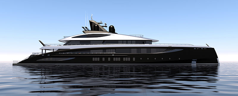 77m Nobiskrug superyacht Project Black Shark begins outfitting