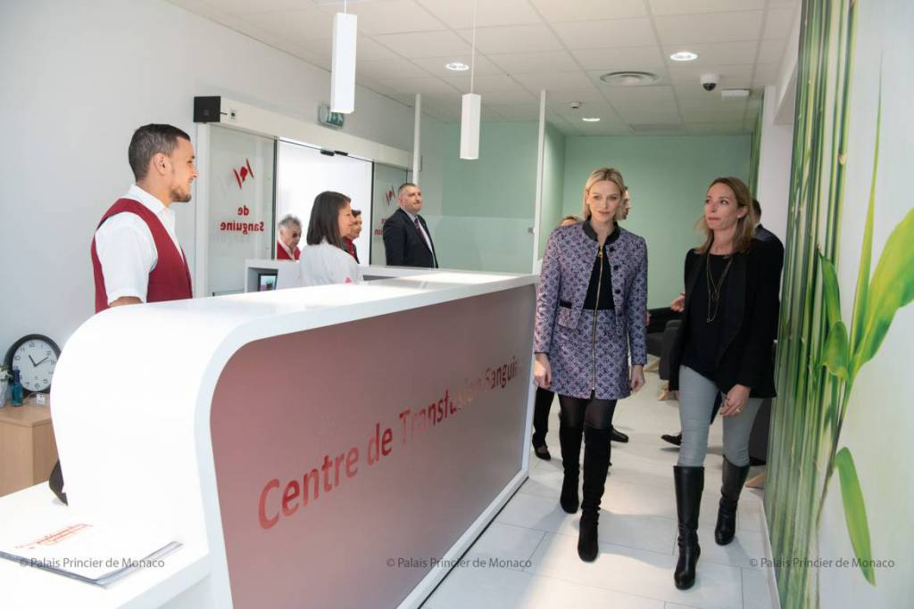 Princess Charlene reminisces in Princess Grace Hospital