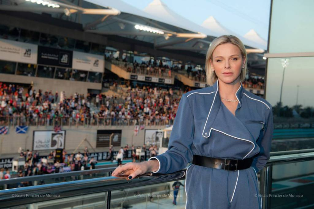 Princess Charlene cheers on Charles Leclerc at Abu Dhabi Grand Prix