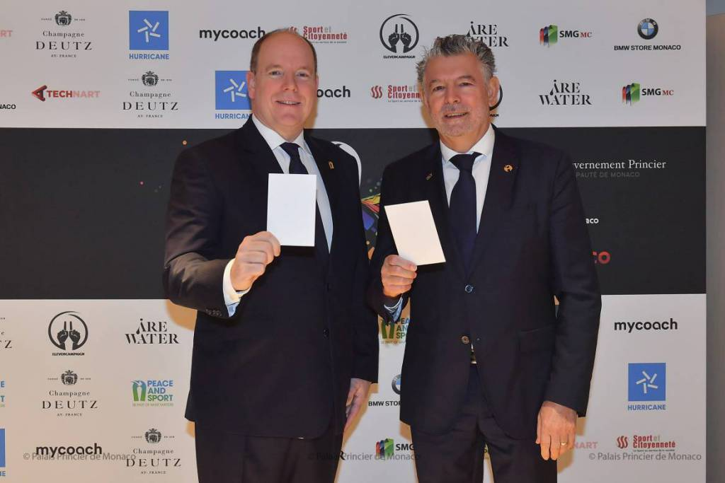 Prince Albert attends International Peace and Sport Forum