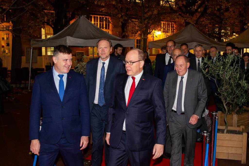 Prince Albert gives lecture at ESCP Europe Business School