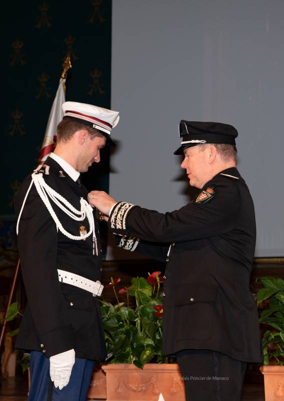 Prince Albert attends Police Oaths Ceremony
