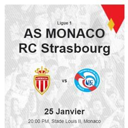 French Premier League Football Championship: A.S. Monaco / Racing Club de Strasbourg Alsace