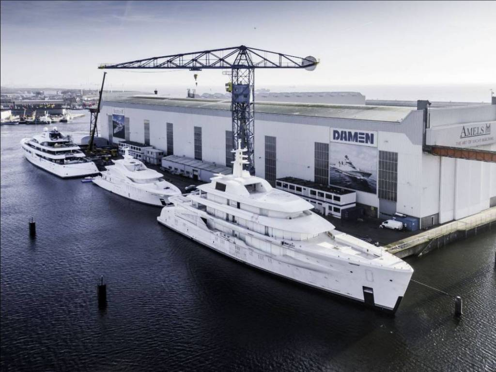 AMELS and DAMEN yachts in busy start to 2020 at Dutch yard