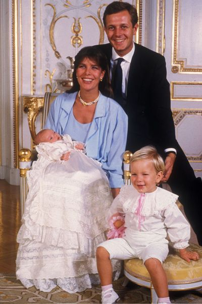 Princess Caroline with Stefano Casiraghi with their children
