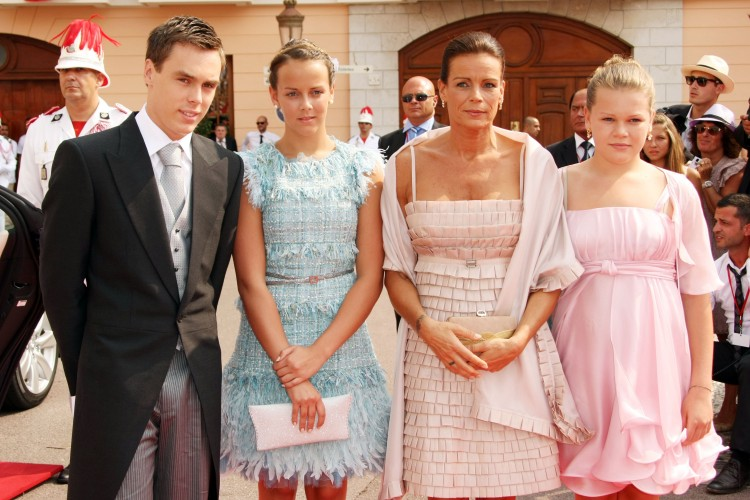 Princess Stephanie with her children