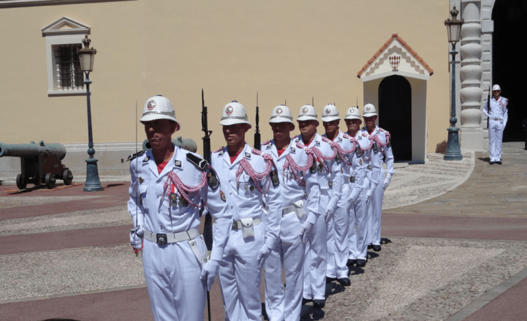 Monaco, Prince's Palace, Changing of the Guard