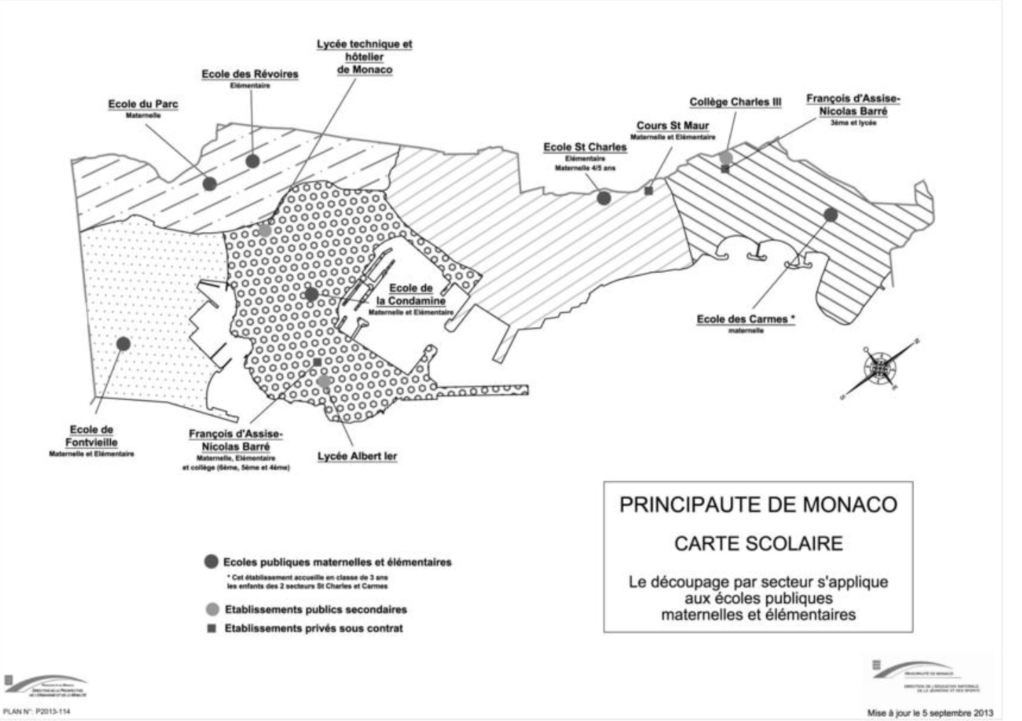 School map of Monaco