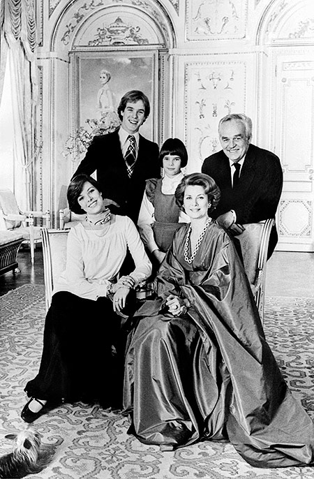 Rainier III and his wife, actress Grace Kelly, Prince Albert, Princess Caroline and Stephanie