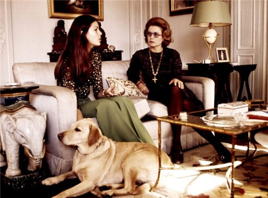 Princess Caroline with her mother Princess Grace