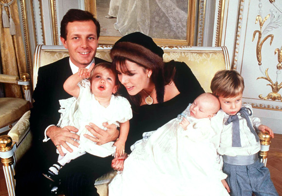 Stefano Casiraghi , Princess Caroline with children