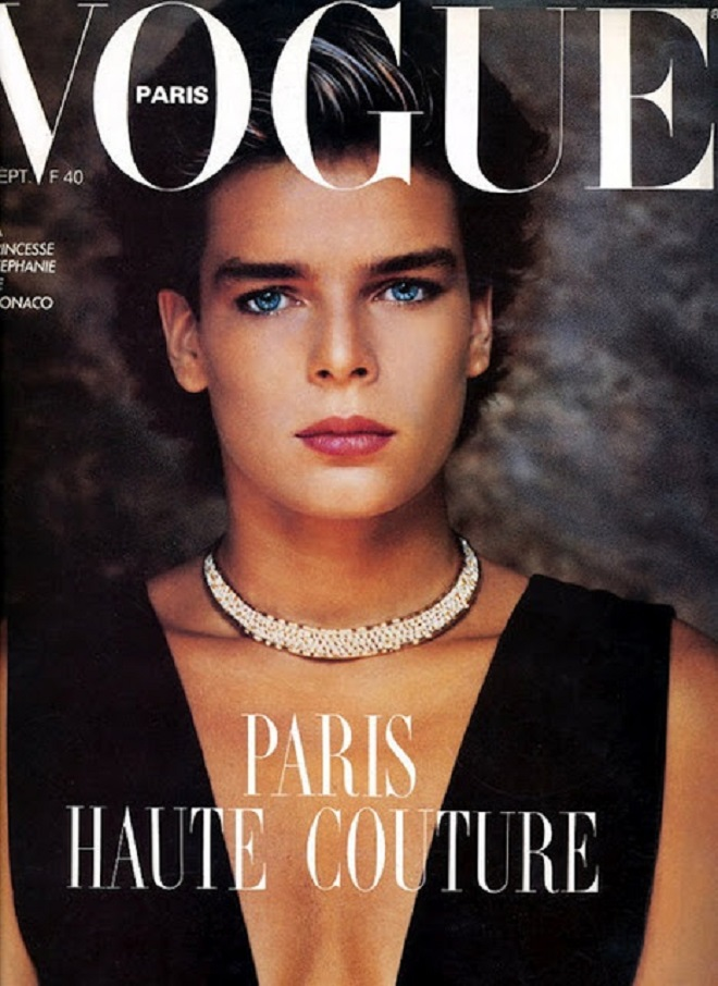 Princess Stephanie on the cover of Vogue Paris