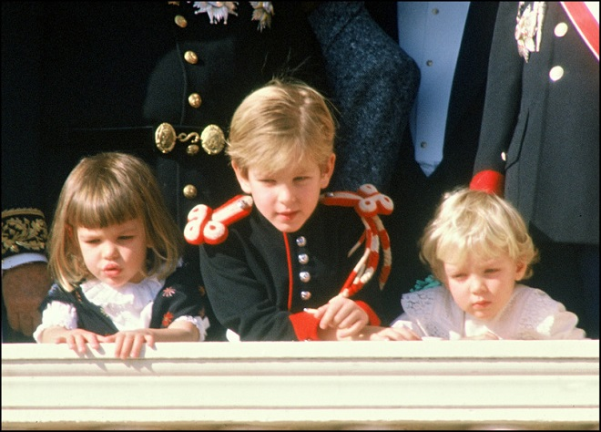 Children of Princess Caroline at some official event