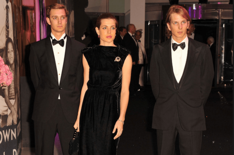 Andrea Casiraghi with her brother and sister