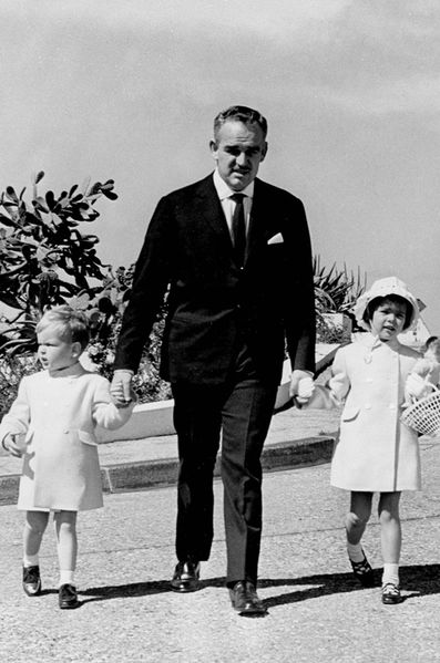 Prince Rainier with children