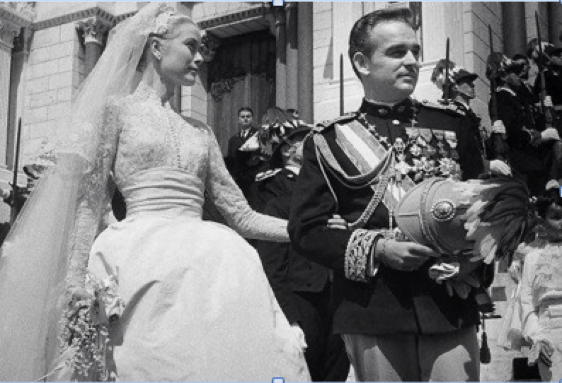 Princess Grace and Prince Rainier III- wedding