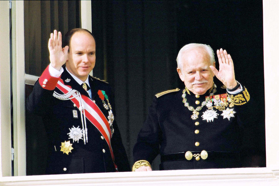 Prince Rainier with Albert II