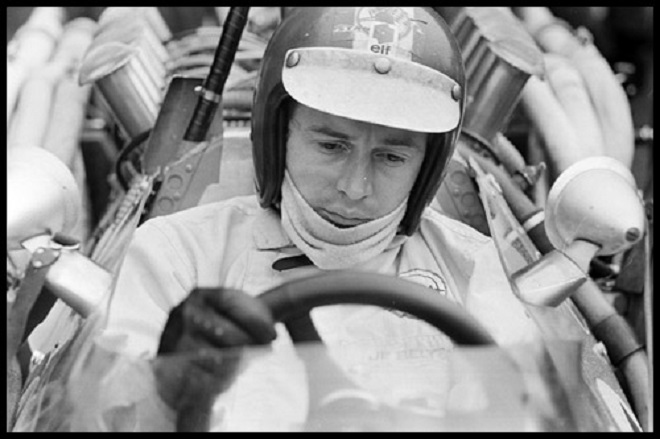 Jean-Pierre Beltoise at the wheel the racing car.