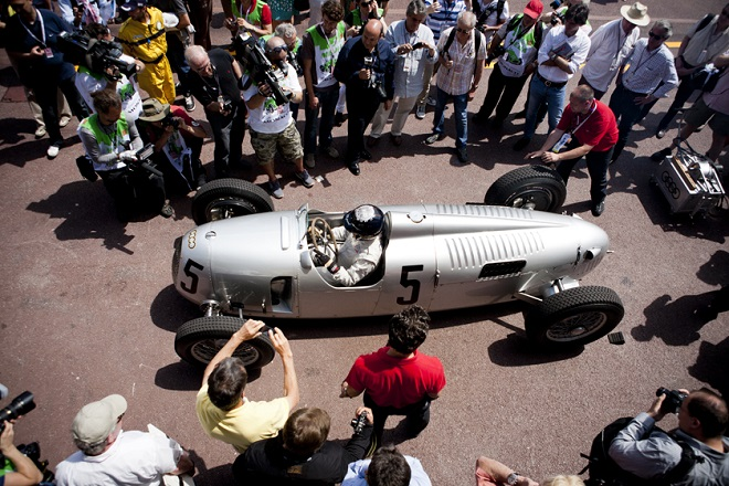 The racing car at the pitstop in Monaco