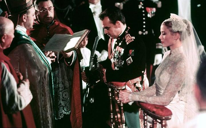 The wedding of Prince Rainier III and Grace Kelly- church ceremony
