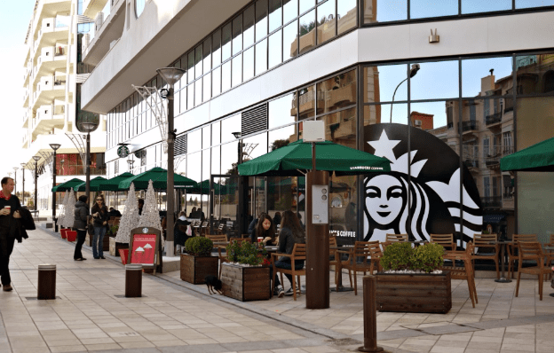 Photo of Starbucks, Funhouse for children and Monaco dance school