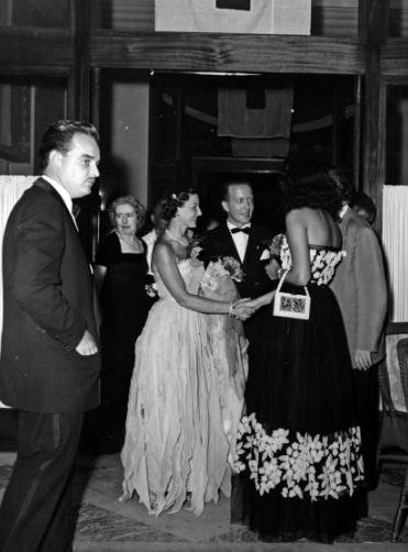 Prince Rainier III at the Red Cross Ball in 1950.