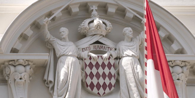 Monaco motto - Deo Juvante- the sculpture