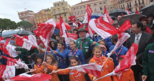 Citizens of Monaco, celebrating the national day